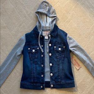 True Religion Hooded Denim Jacket